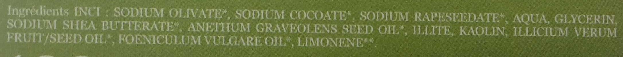 Fenouil Anis - Ingrédients