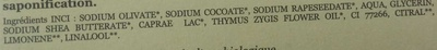 Milky Thym - Ingredients