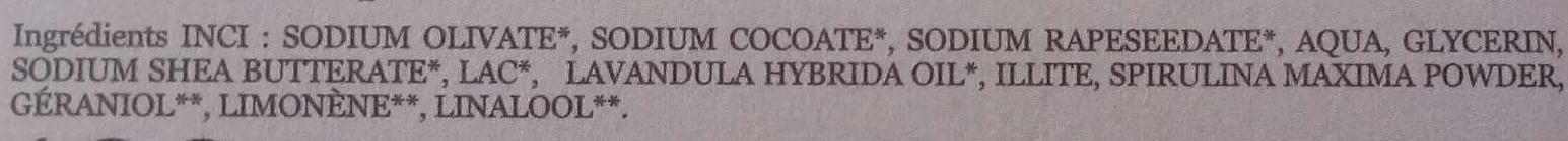 Milky Lavande - Ingredients