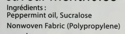 Lingettes dentaires - Ingredients