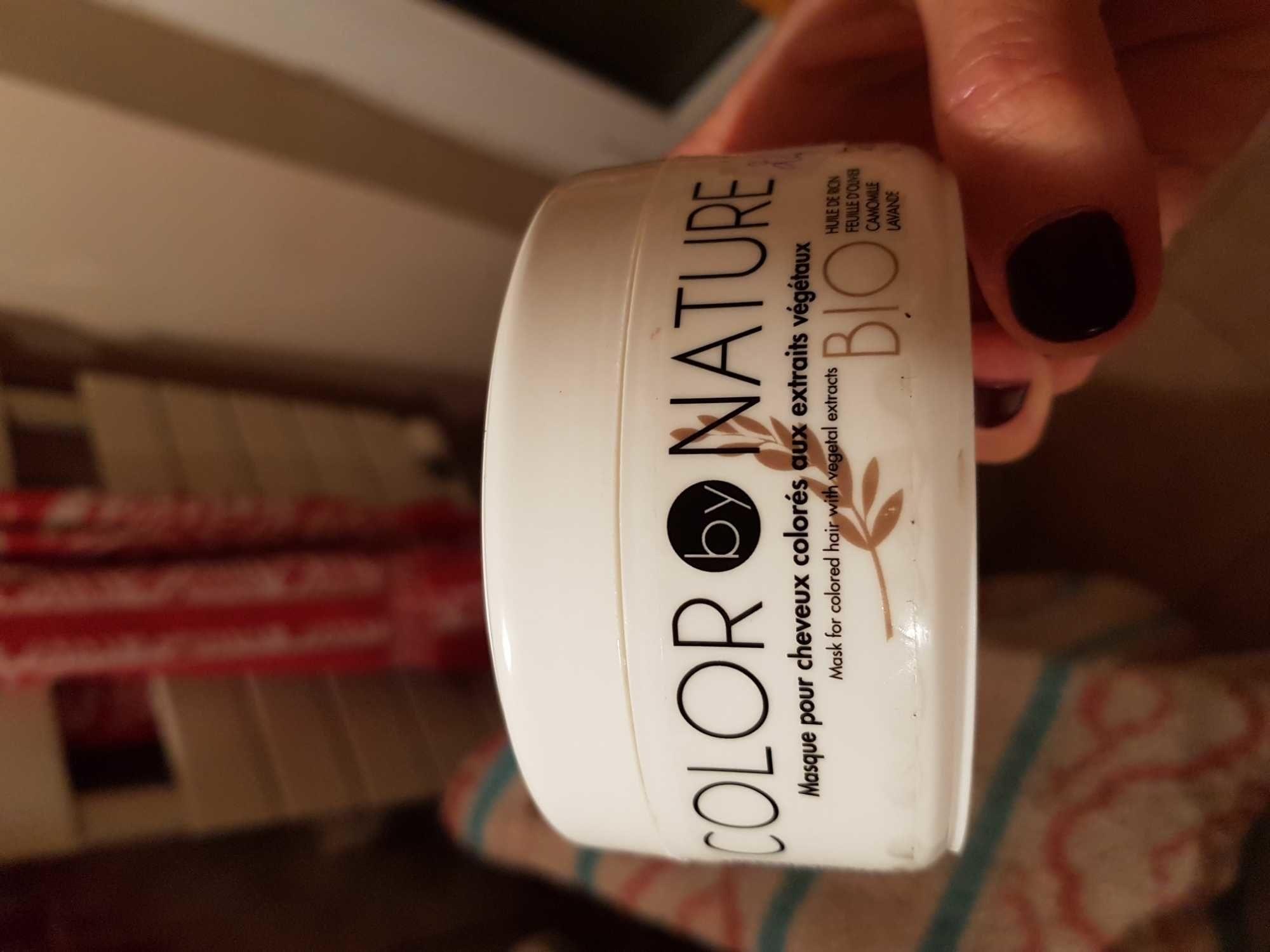 Masque pour cheveux colorés aux extraits végétaux - Produit - fr