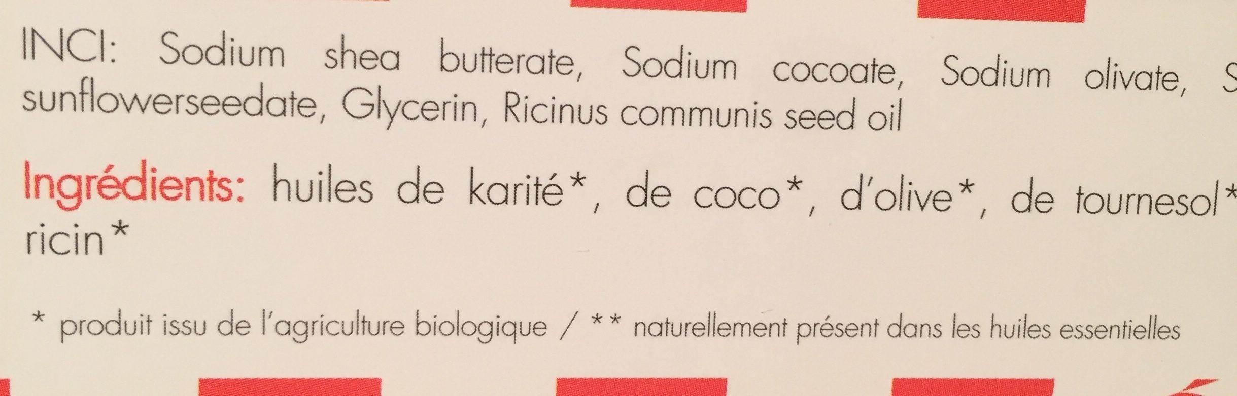 Savon à Froid Le Suisse Neutre 100GR Clémence Et Vivien - Ingredients