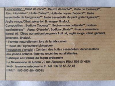 Savon - Ingrédients