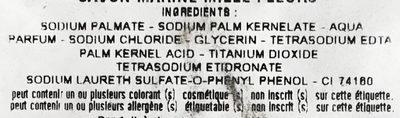 Savon Marine Mille Fleurs - Ingredients
