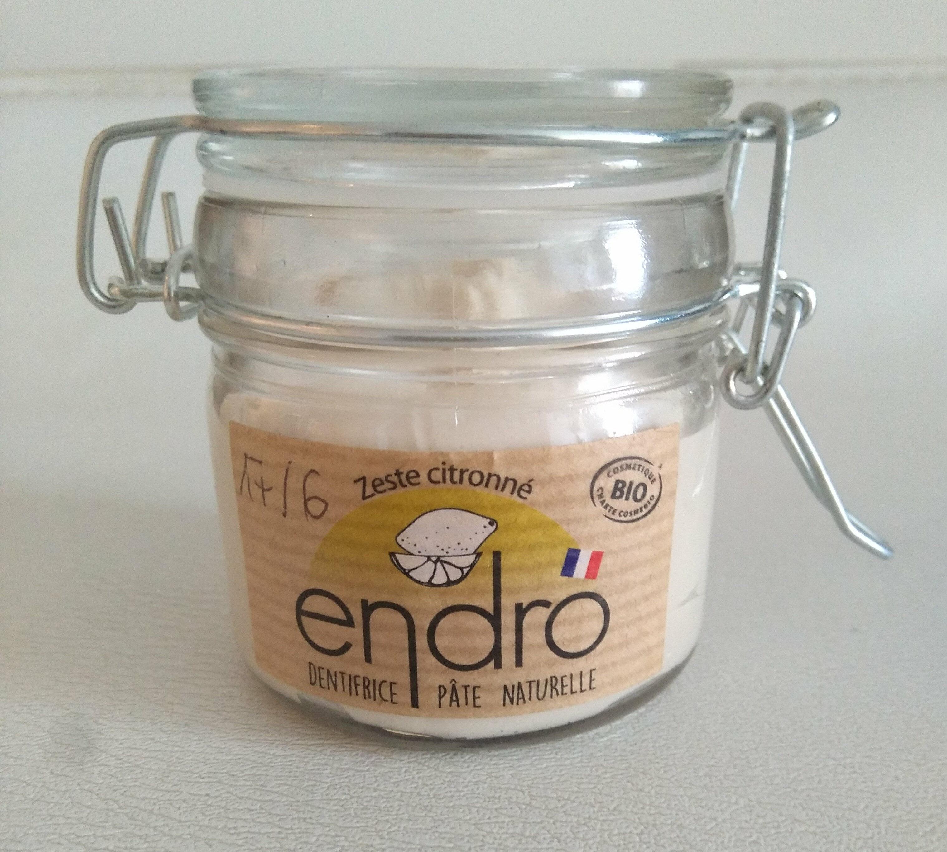 Dentifrice pâte naturelle zeste citronné - Produit - fr