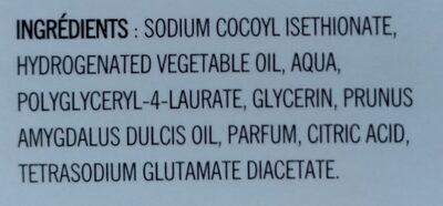 savon crème à l'huile d'amande douce - Ingredients - fr