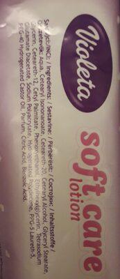 Violeta soft care lotion - Ingredients - en