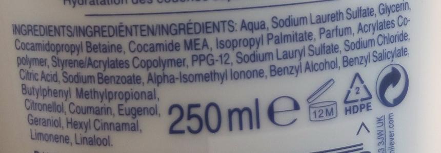 Crème lavante de beauté - Ingrédients - fr