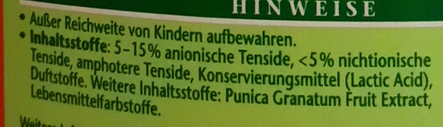 Granatapfel Spül-Balsam - Ingredients - de