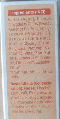 Coldcream Gesichtscreme - Ingrédients - de