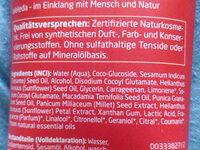 Granatapfel Schönheitsdusche - Ingredients
