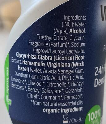 Déodorant - Ingredients - fr