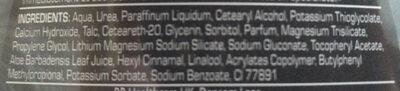 Haarentfernungs-Creme Sensitive Power - Ingredients - de