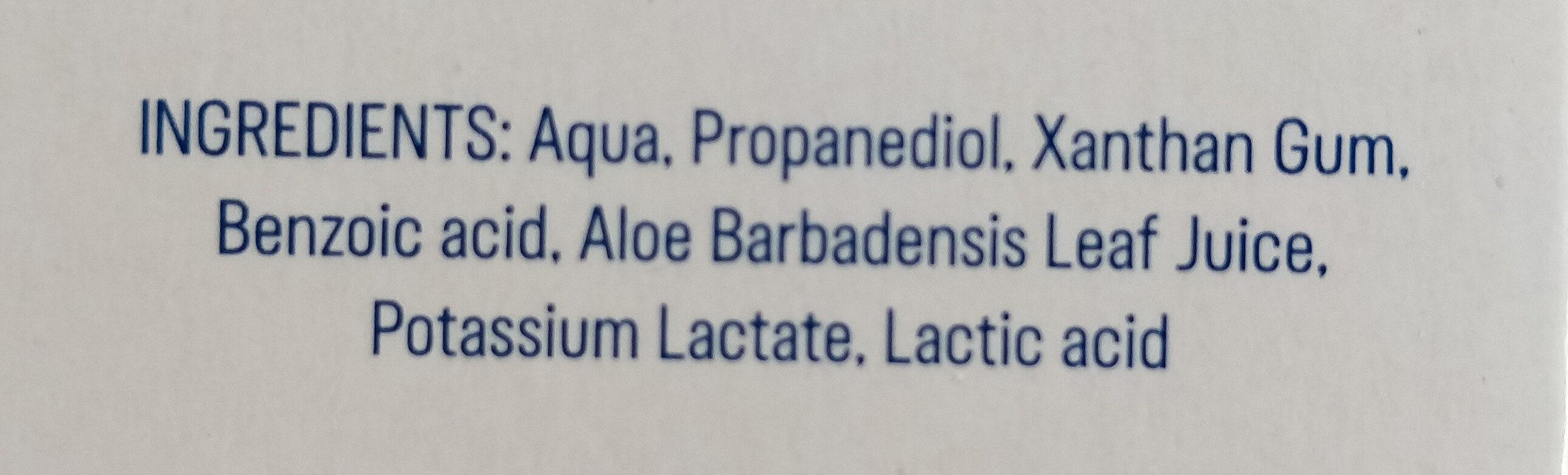 naturals Gleitgel - Ingredients - de