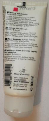 SENSUAL Aroma Handbalsam Hand Cream Tamarinde & Ingwer - Product - en