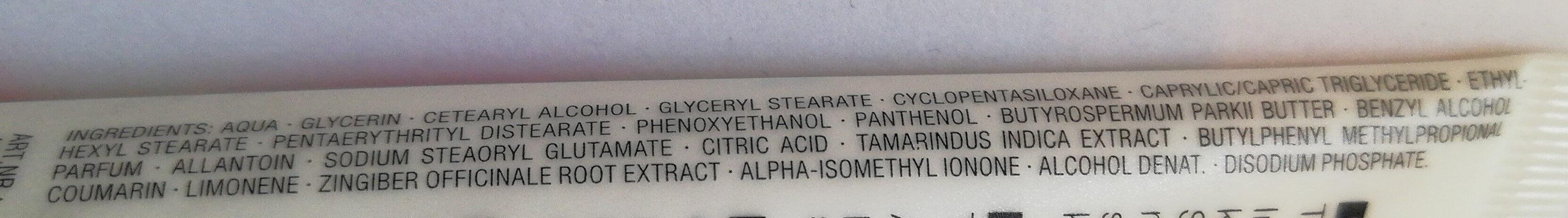 SENSUAL Aroma Handbalsam Hand Cream Tamarinde & Ingwer - Ingredients - de