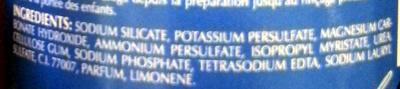 Poudre éclaircissante professionnelle bleue - Ingredients