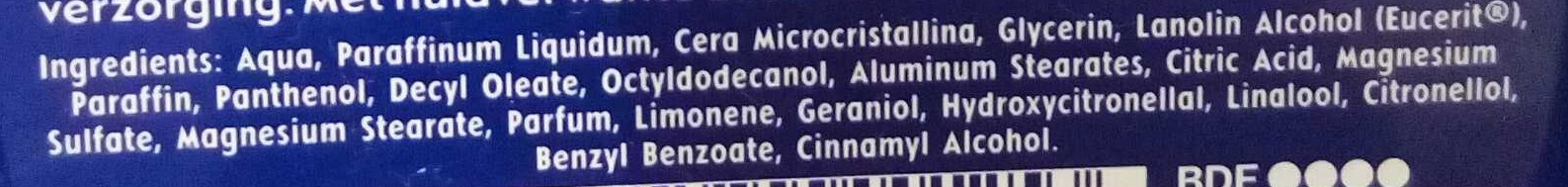 Nivéa creme - Ingredients