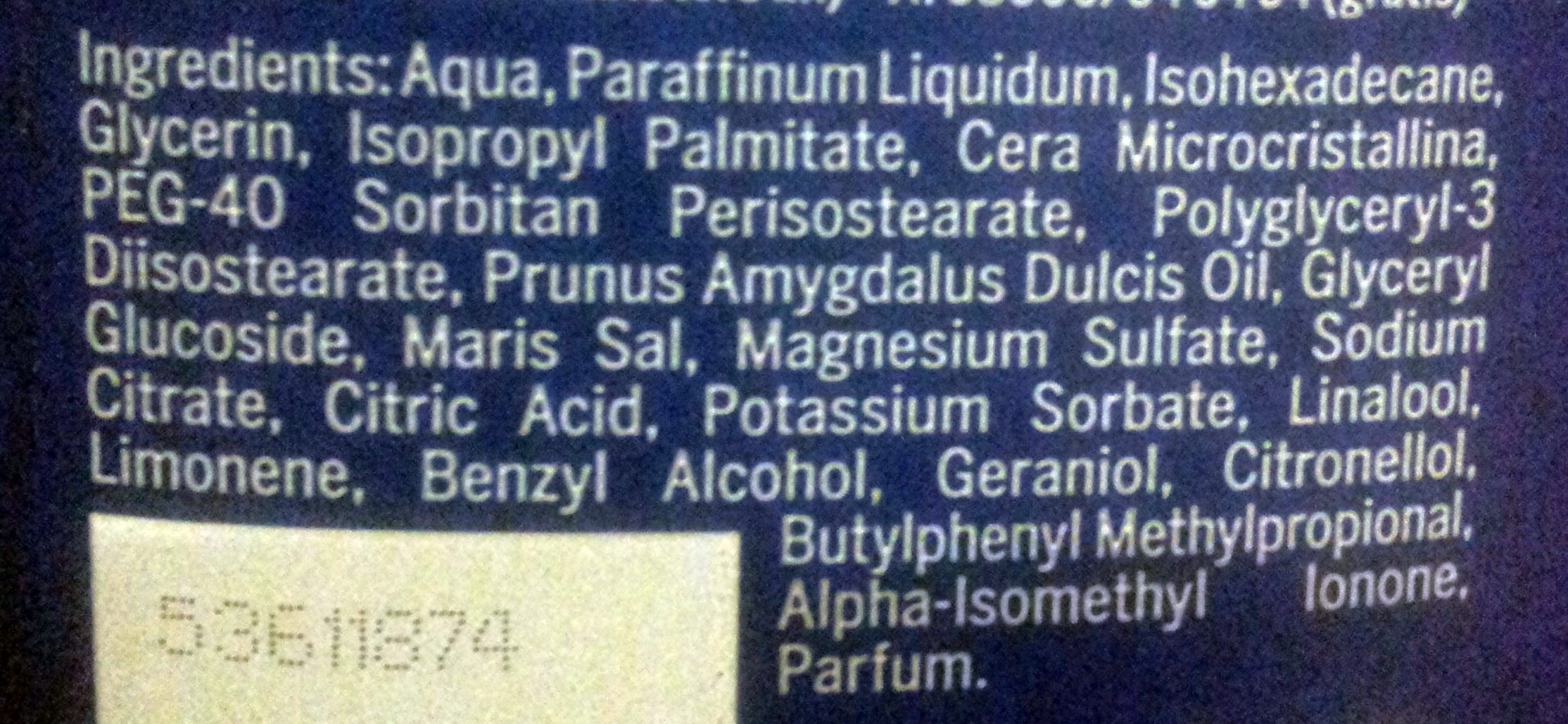 Nivea Body Milk - Ingredients