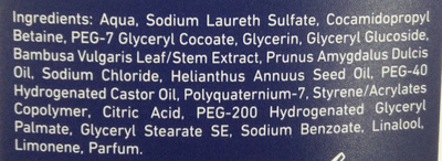 Sensitive Shower Gel - Ingredients