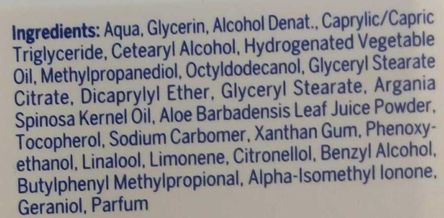 Pure & Natural Soin de jour hydratant - Ingrédients - fr