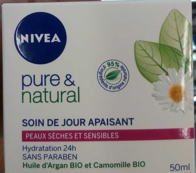 Pure & Natural Soin de jour apaisant - Produit - fr