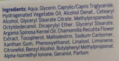 Pure & Natural Soin de jour apaisant - Ingrédients - fr