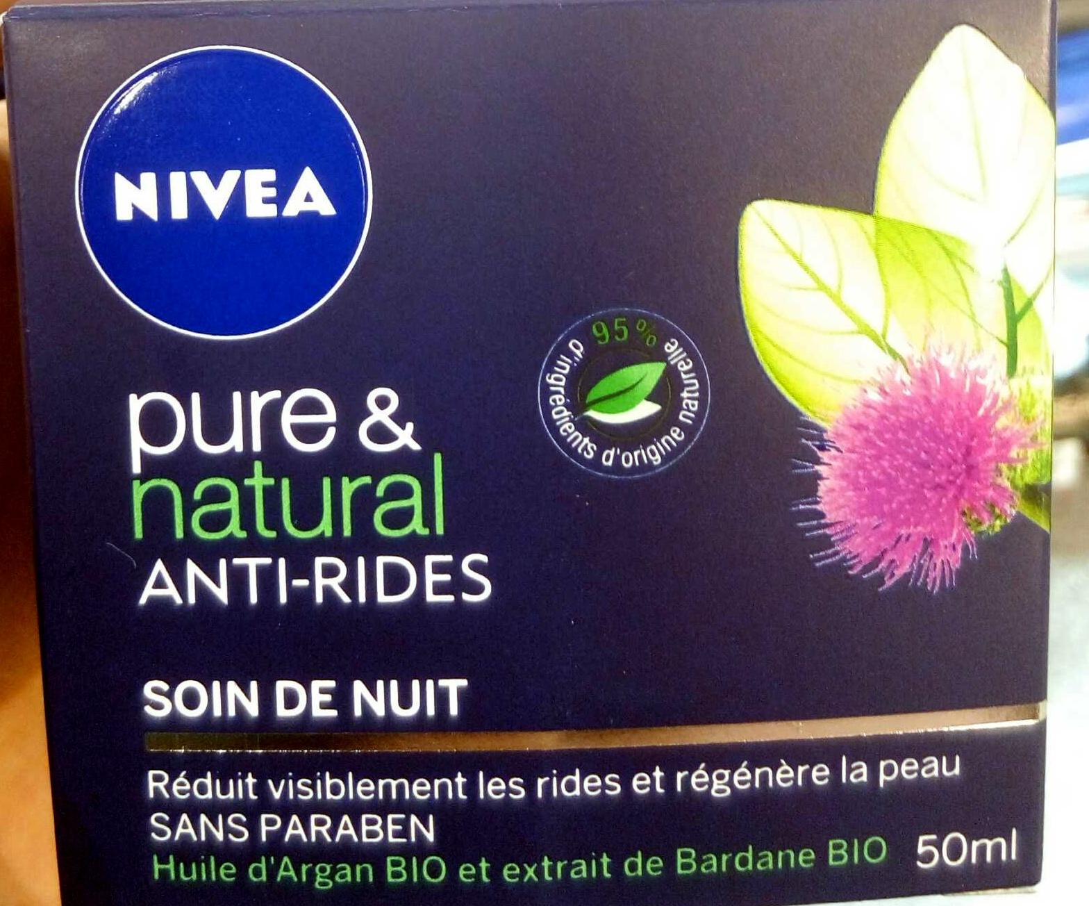 Pure & Natural Anti-rides Soin de nuit - Produit