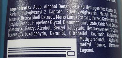 Nivea Men Fresh Active 24h - Ingredients