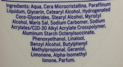 Lait corps sous la douche hydratant - Ingredients - fr