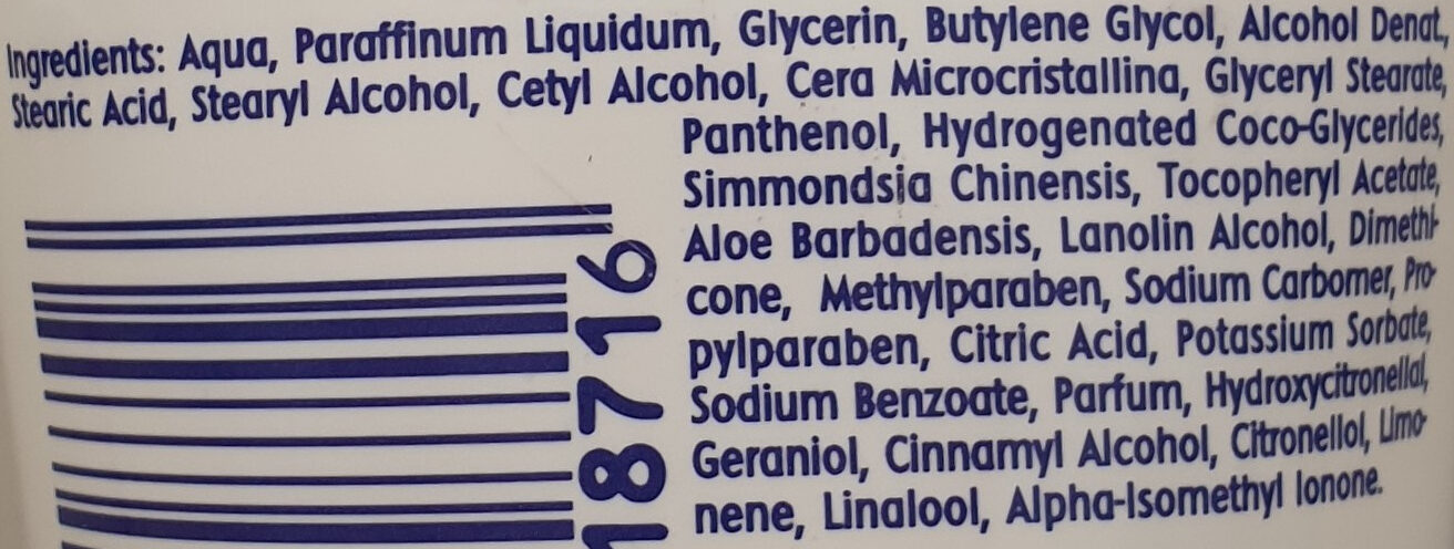 Beruhigende After Shave Creme for women, Mit Panthenol - Ingredients