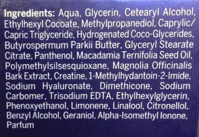 Cellular anti-âge - Ingrédients