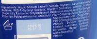 Crème douche nourissante - Ingredients