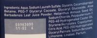 Cavani 9 - Gel douche hydratant originale édition limitée - Ingredients