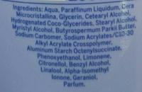 Lait corps sous la douche Douceur - Ingredients