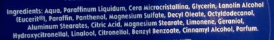 Nivea crème - Ingredients