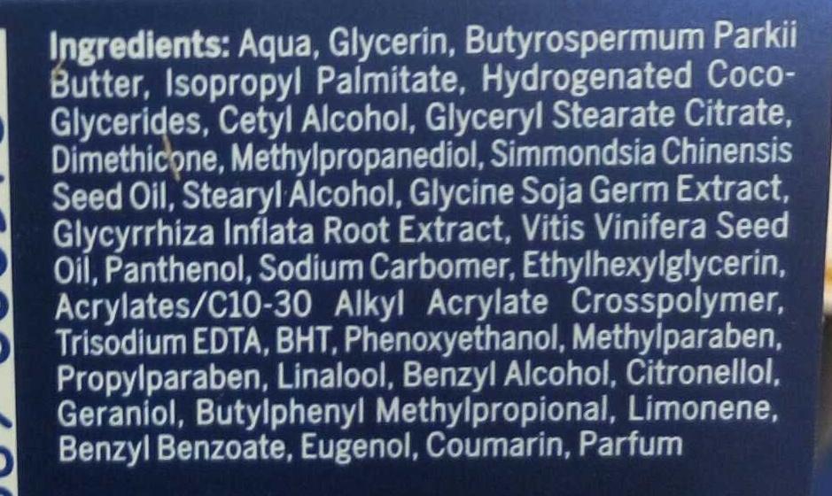 Vital Soja anti-âge soin de nuit complet - Ingredients
