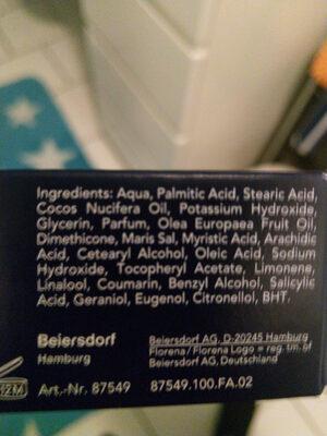 Florena comfort Rasiercreme - Ingredients