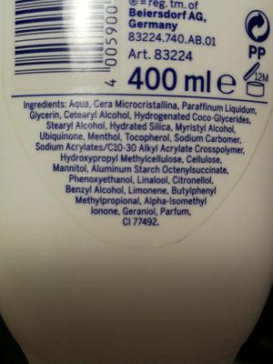 bajo la ducha - Ingredients