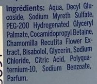 Baby Shampooing Extra Doux - Ingredients