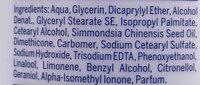 Sensual Pflegelotion Kirsch Blüte - Ingredients - en