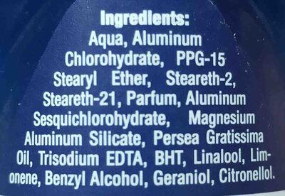 Nivea Men Dry Impact - Ingrédients - en