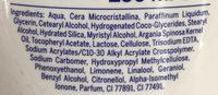 Lait corps sous la douche Eclat 2 en 1 - Ingredients