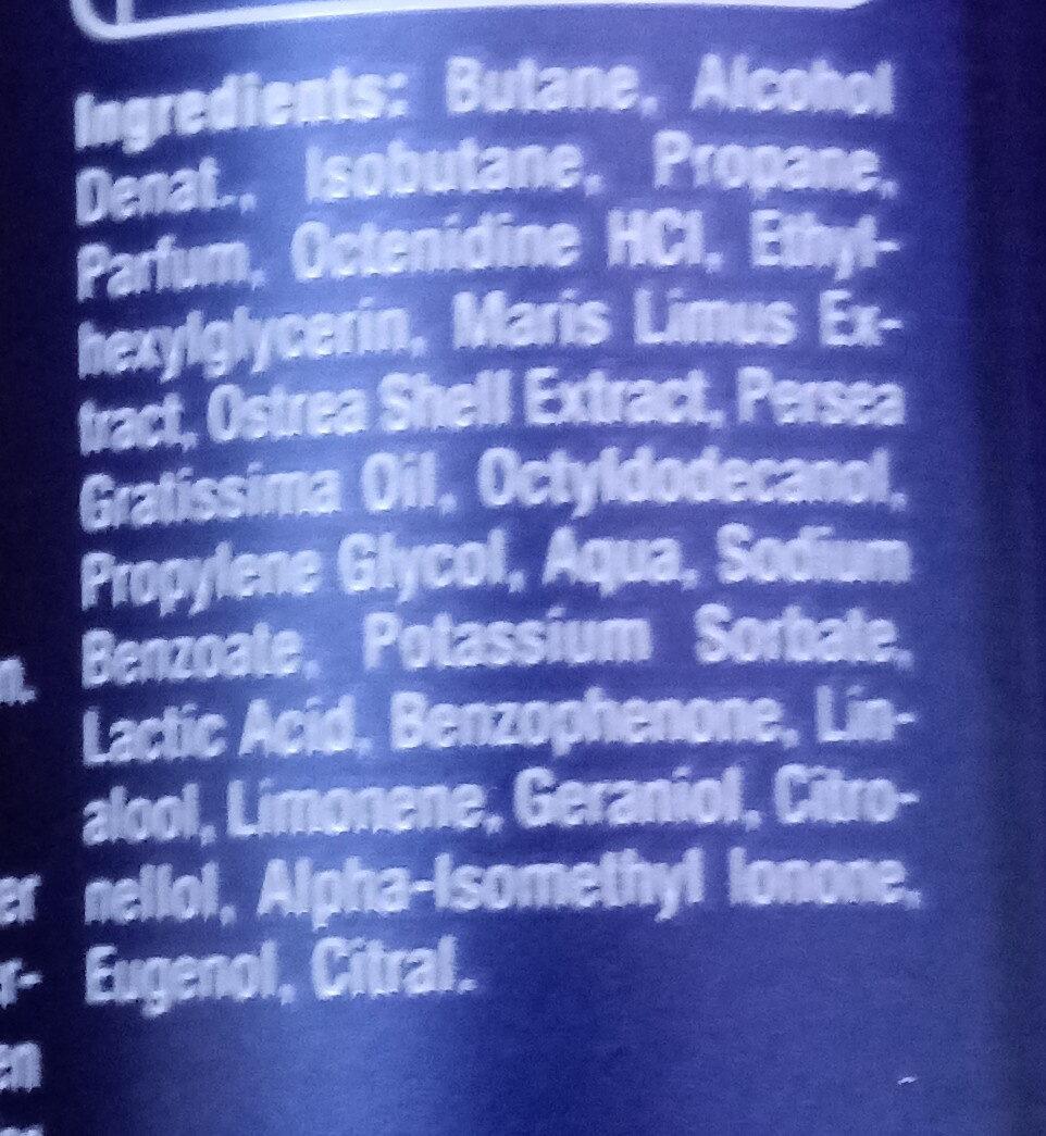 Fresh Active Deodorant - Ingredients - de
