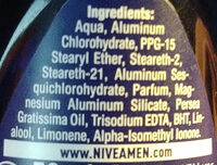 Men Dry Fresh - Ingredientes - en