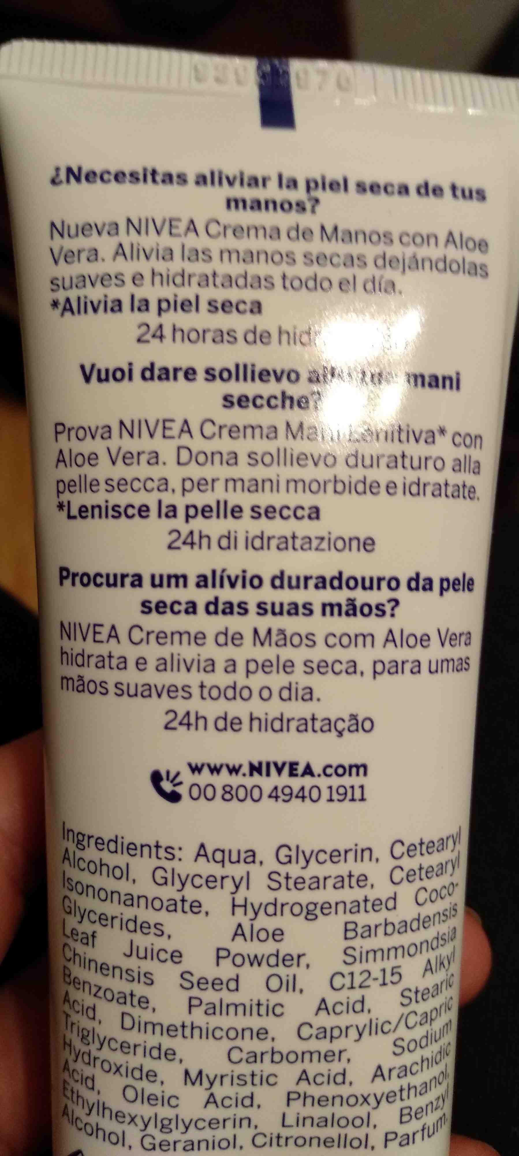 Nivea: Crema de manos - Ingredients - en