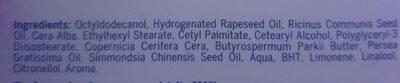 nivea original care - Ingredients - en