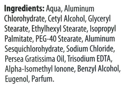 Classic Deo Creme - Ingredients