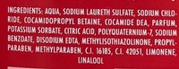 Gel douche + Shampooing XXXL - Ingredients