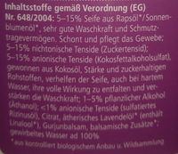 Waschmittel Lavendel - Ingredients - de